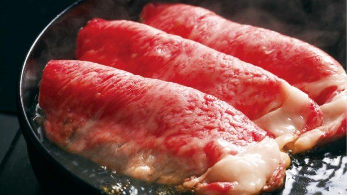 ビフテキやオーブンステーキ、すき焼きやしゃぶしゃぶなどで、竹園のお肉料理を堪能