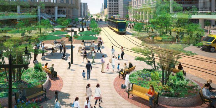 三宮駅から人の流れを街全体にどのように拡散させるかがカギになる