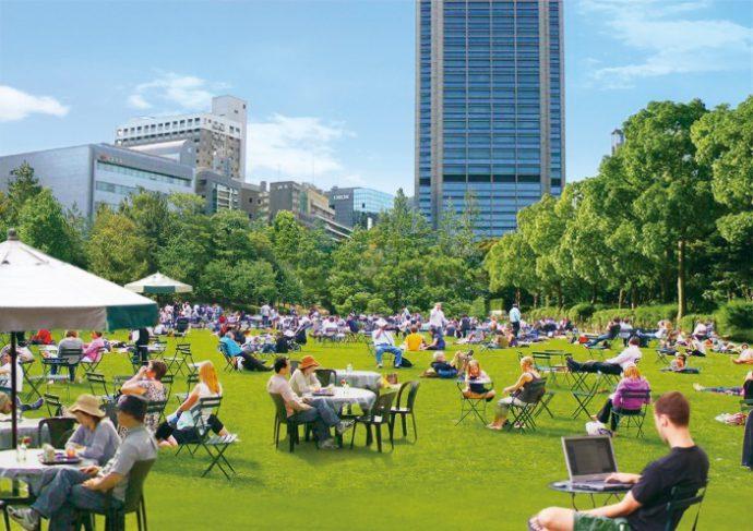 東遊園地は芝生化をめざす