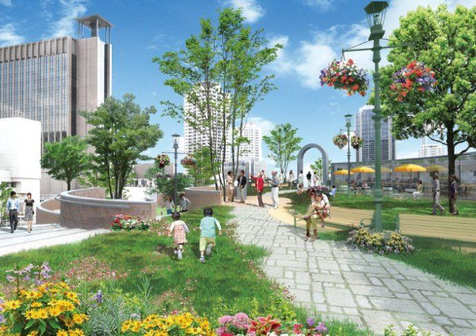 賑わいや回遊性のある街を創出する