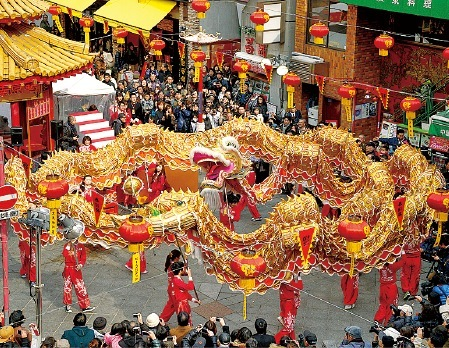 「南京町春節祭」。毎年多くの外国人が観光に訪れる