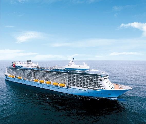 世界最大規模のアメリカの大型旅客船「クァンタム・オブ・ザ・シーズ」
