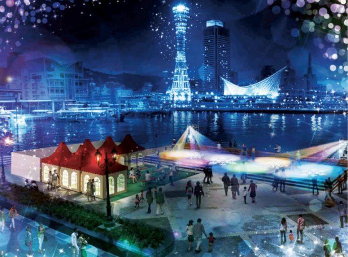 umieモザイクには、アイススケートリンク「umieアイスマリーナ」とファンタジックなイルミネーションを開催し、冬でもウォーターフロントに親しむ機会をつくる