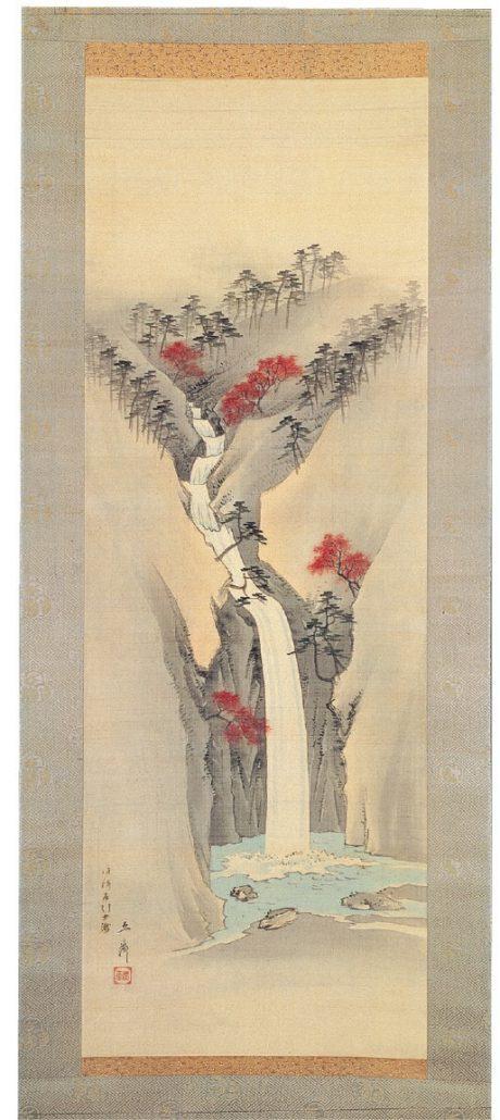 歌川広重画「摂津布引雌滝」