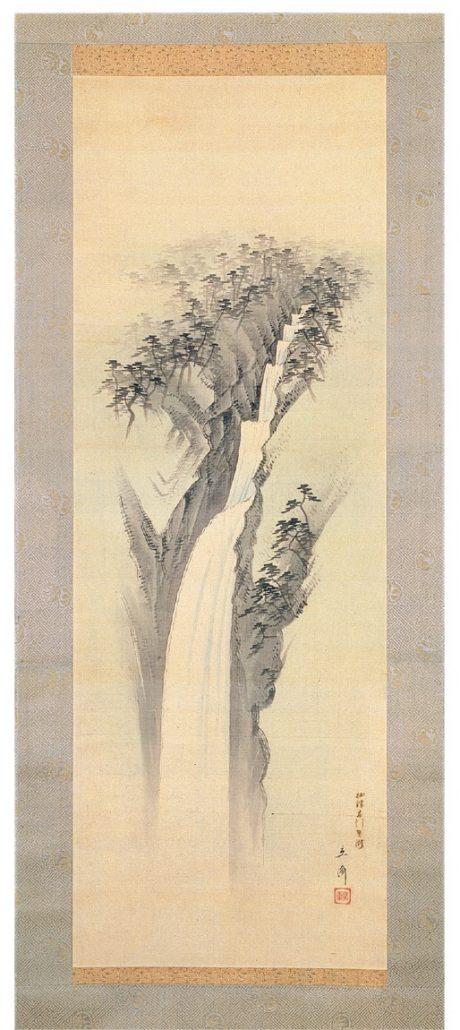 歌川広重画「摂津布引男滝」