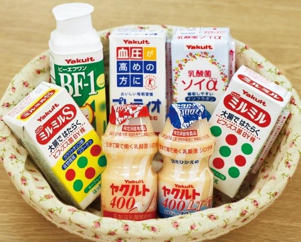 大腸で働くビフィズス菌 BY株が含まれたミルミルなど、ヤクルト以外の乳製品も種類が豊富