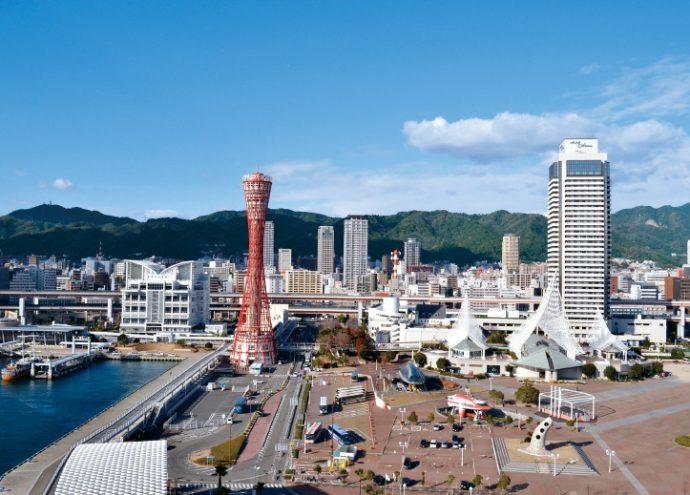 神戸港の公園・メリケンパークの一角に、神戸港震災メモリアルパークがある©一般財団法人神戸国際観光コンベンション協会