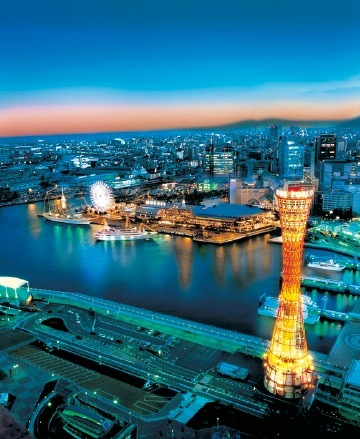 神戸の街全体が宝石箱のように輝く