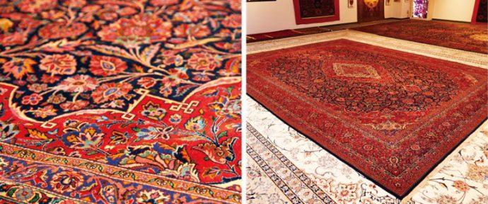 100年以上前に作られ、保存状態が極めて良い絨毯。経年美化もペルシア絨毯の力