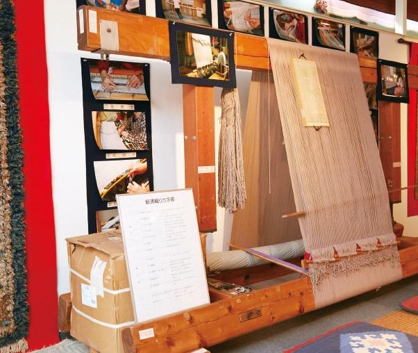 鍋島藩で使用されていた絨毯織機