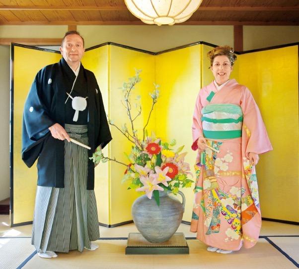 袴と振袖でお色直し(撮影:浮田輝雄)