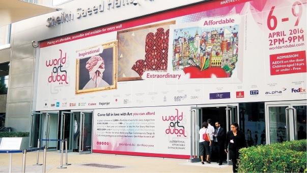 ドバイのアートフェスティバル「ワールド・アート・ドバイ」に、村上さんもジャパンプロモーションの依頼を受けて出展