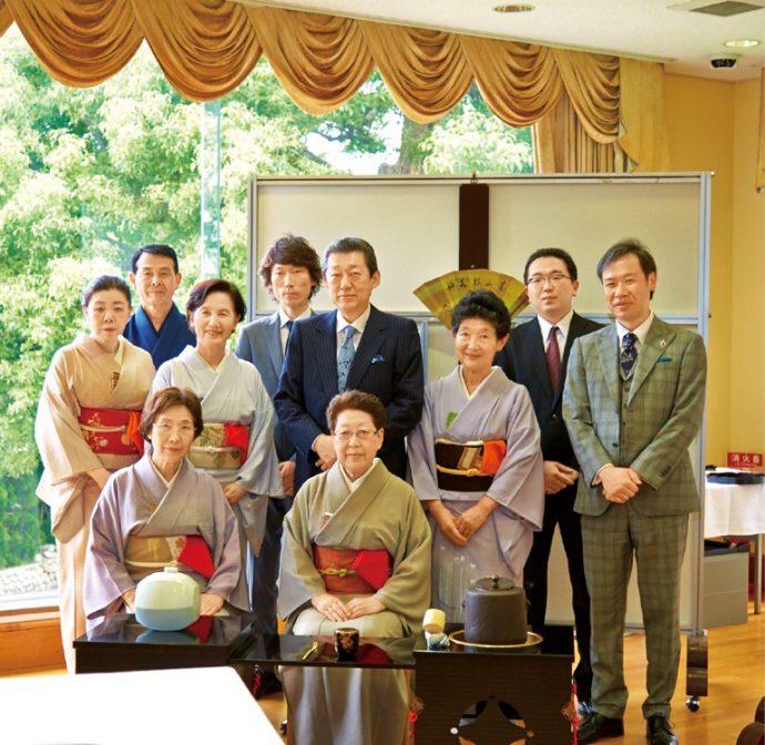 神戸淡交会第一支部・第二支部の皆さんと共に