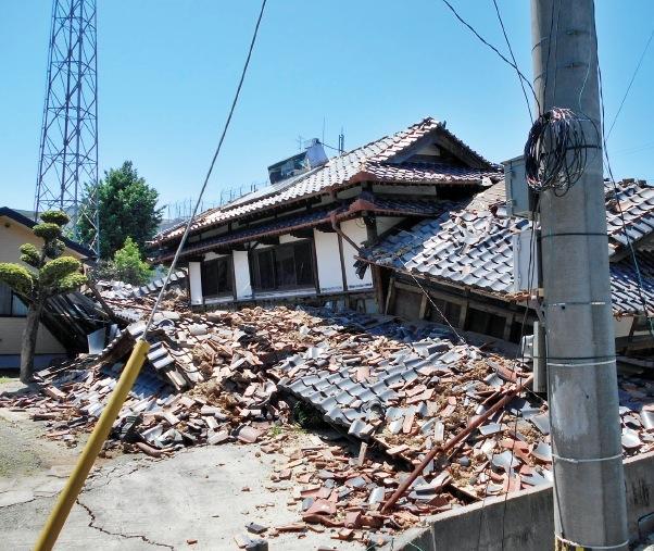 ひときわ震災の被害が大きかった益城町