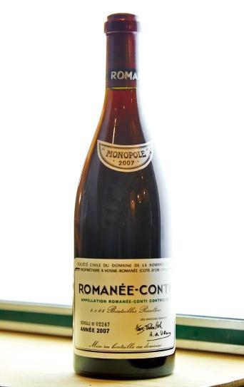 希少価値の高いワインもそろう。 写真はロマネ・コンティ