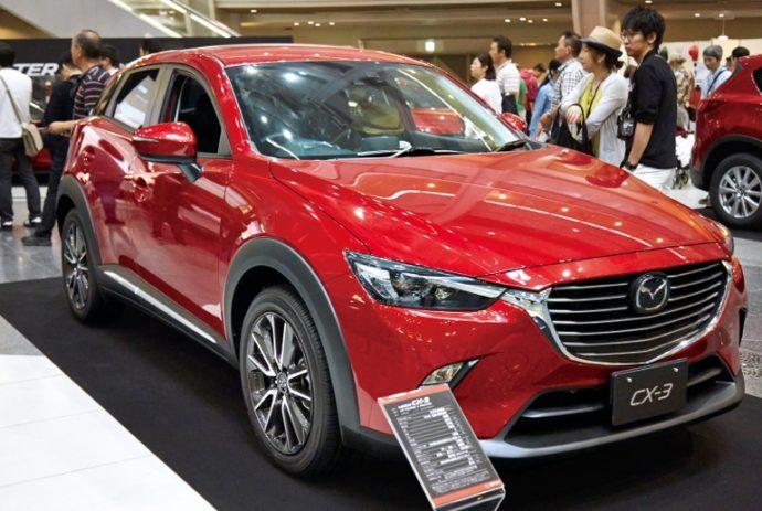 CX-3などマツダ人気をけん引する新世代の車も 並んだ