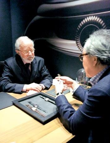 スイスにて、ローラン・フェリエ 本人と細部まで相談を重ねた