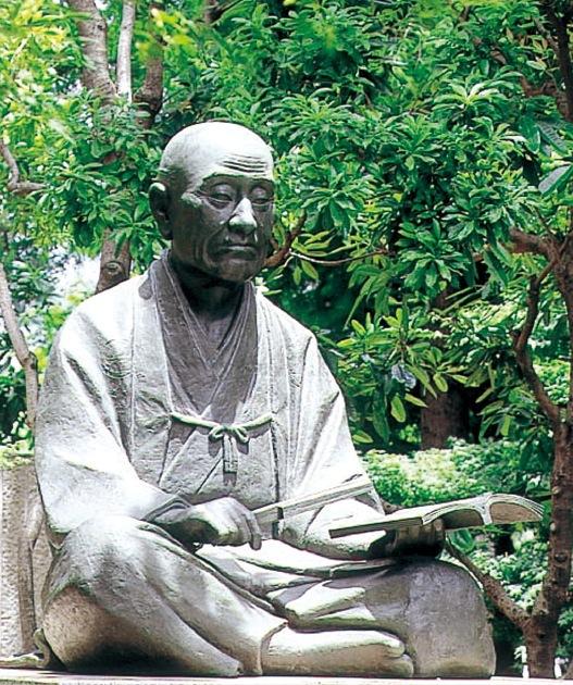 「文化都市尼崎をPRしたい」と会報誌の表紙に近松門左衛門像を掲載した