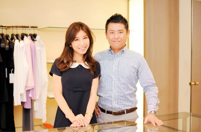 ㈱ブティックセリザワ社長室室長であり、夫・森山卓司さんがブランド設立をサポート