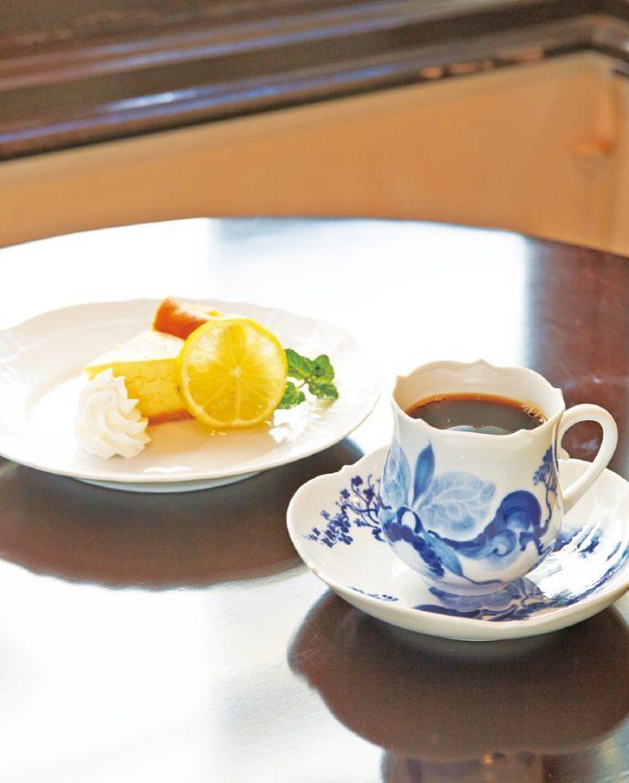 自家製チーズケーキとコーヒーのセット(1,000円)