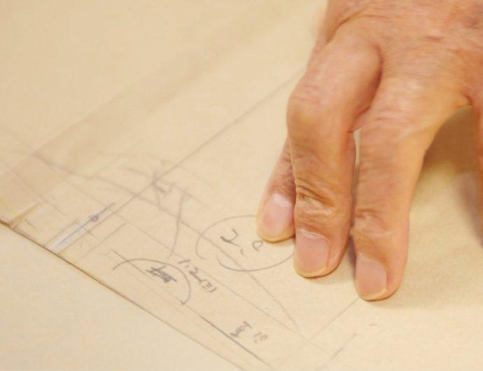 年月による体型の変化に合わせた補正が型紙に記されている