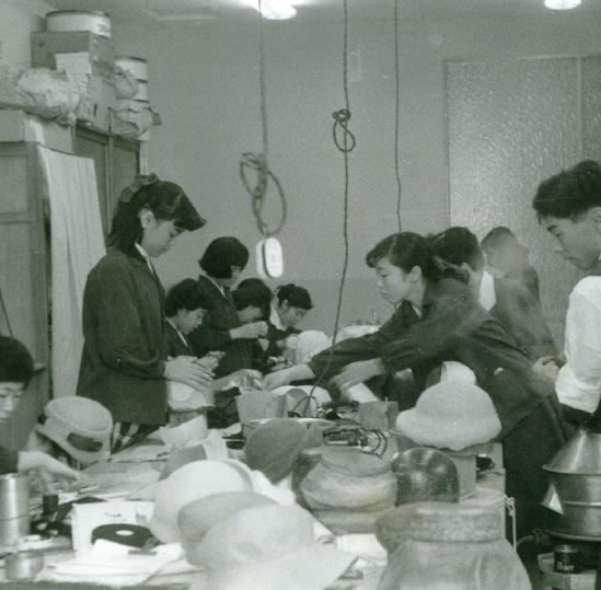 昭和30年代頃のマキシンの工房