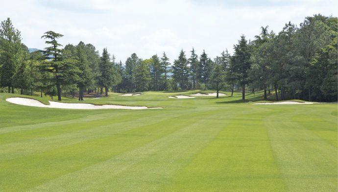 日本オープンゴルフ選手権の開催地には、各ホールの難易度、戦略設定がしっかりしているかなど厳しい審査基準をクリアする必要がある(東コース18番)
