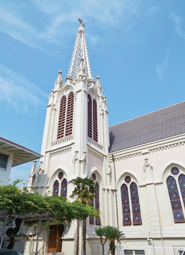 阪神間の郊外住宅地で行われた伝道活動の際に建てられた
