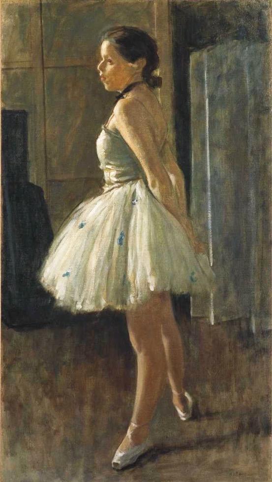 小磯良平「踊り子」1940年頃 油彩 神戸市立小磯記念美術館蔵