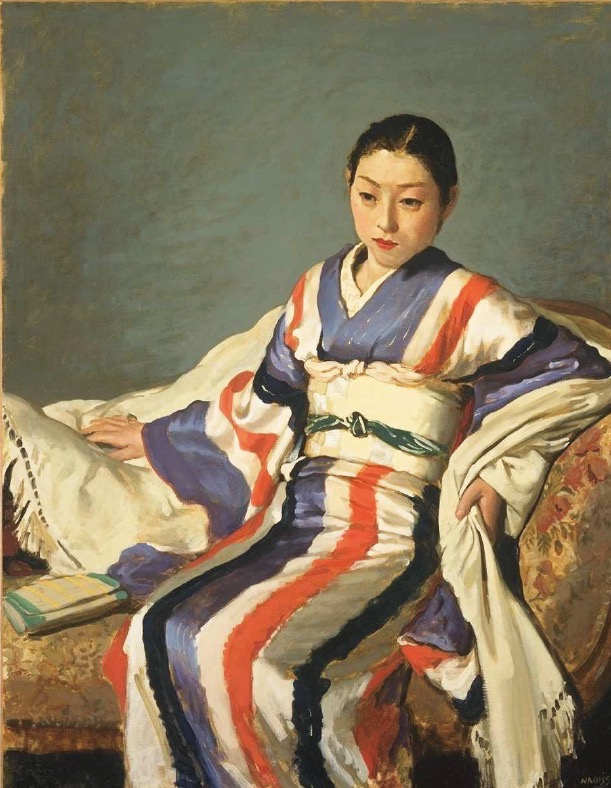 小磯良平「着物の女」1936年 油彩 神戸市立小磯記念美術館蔵