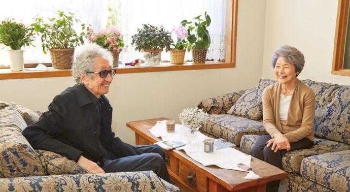 小磯が長年暮らした住吉の邸宅。石阪さんと嘉納さんの話は尽きない