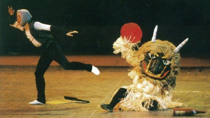 貞松融さんは日本文化をテーマにした創作バレエを多数発表している (写真は1969年「おもちゃのふるさと」)