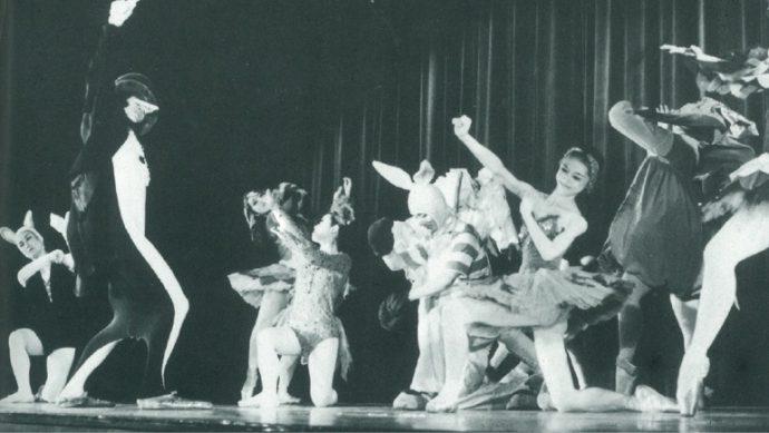 「動物のカーニバル」いちばん左のペンギンが貞松融さん(1968年)