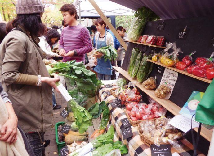 「食都神戸」に向けた社会実験として開催されたファーマーズマーケット