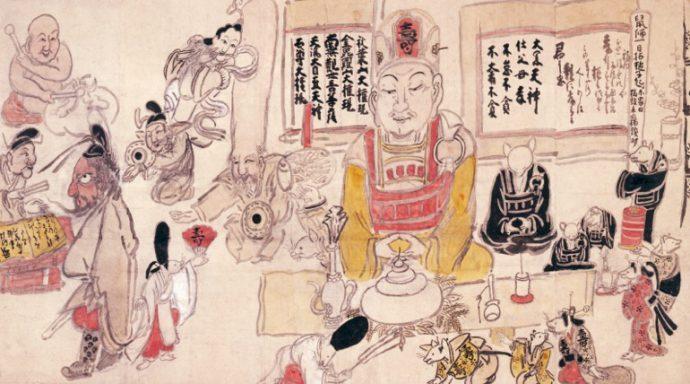 白隠「鼠大黒(大黒天鼠師槌子図)」 大阪新美術館建設準備室蔵