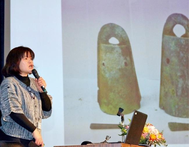 南あわじ市埋蔵文化財調査事務所の定松佳重さんによる経過報告