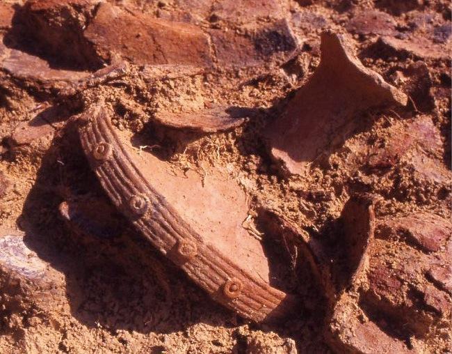 五斗長垣内遺跡も舟木遺跡も、農地整備がきっかけで発見された