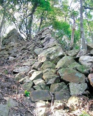 城内各所にある石垣は、場所によって年代や積み方が異なる