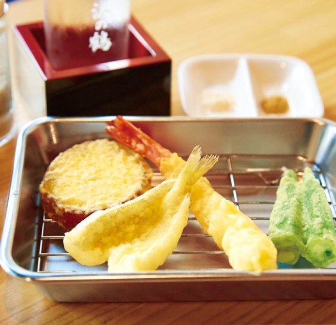天ぷらおまかせ4品/海老入り(500円)