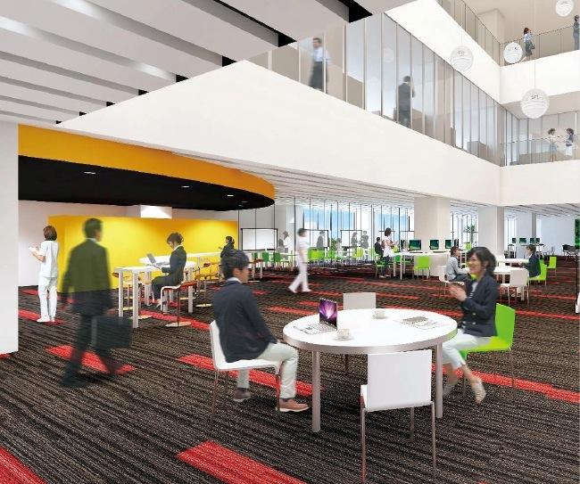 教育環境の充実のため、新しいラーニングスクエアの設置を予定している