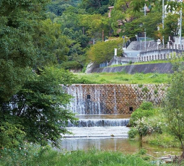 両岸に阪神間モダニズム建築が立ち並ぶ芦屋川
