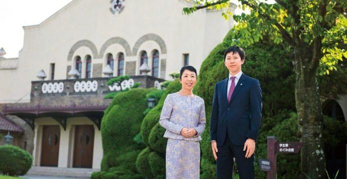 「日本一美しい学校」と言われる神戸女学院。総務館・講堂・ソールチャペルの前で