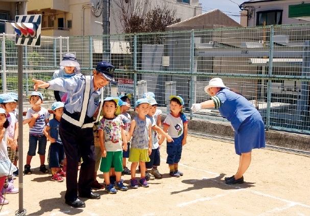 幼児に対する交通安全教室