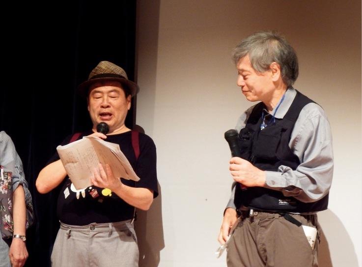 「石ケ原裕次郎」こと久次米健市先生(右)と江草康夫先生