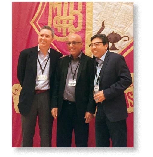 右からケネス・デュワーさん、クマール・チュガニさん、ゲーリー・スミスさん