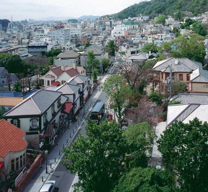 異人館のある街並みが北野町。 写真提供/神戸市教育委員会