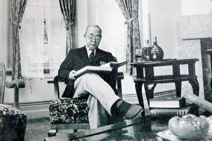 現在の萌黄の館に住んでいた小林秀雄さん。昭和46年