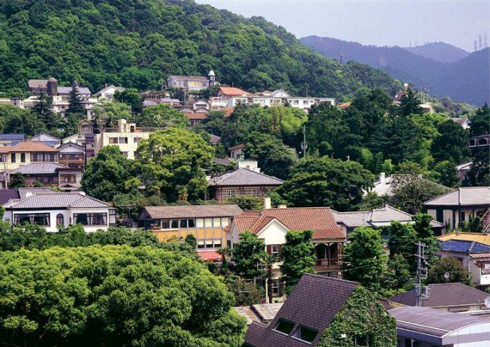 伝統的建造物群保存地区、景観計画区域に指定されている北野町 写真提供/神戸市教育委員会