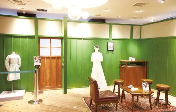 NHK連続テレビ小説「べっぴんさん」展。ドラマで使用されたセットや小道具、衣装などが展示されている