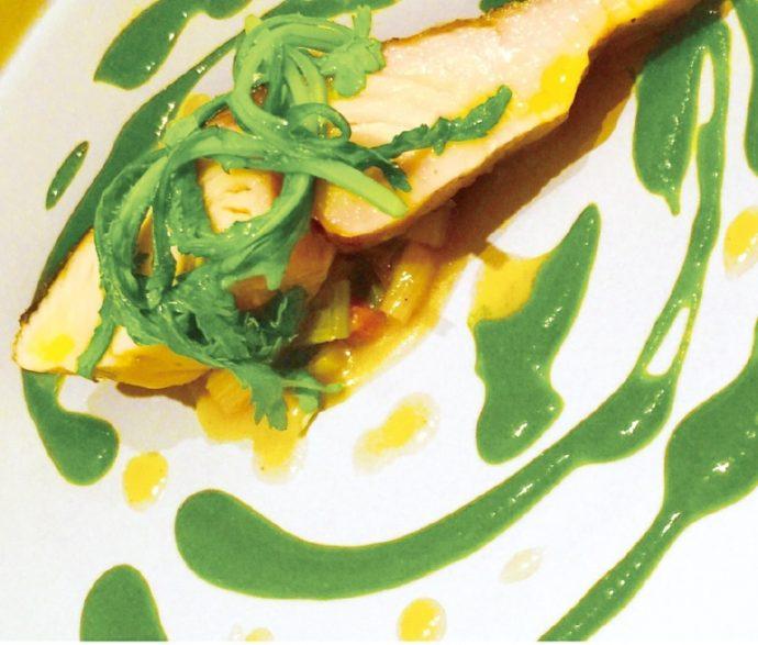 菊菜と鰆のミキュイ